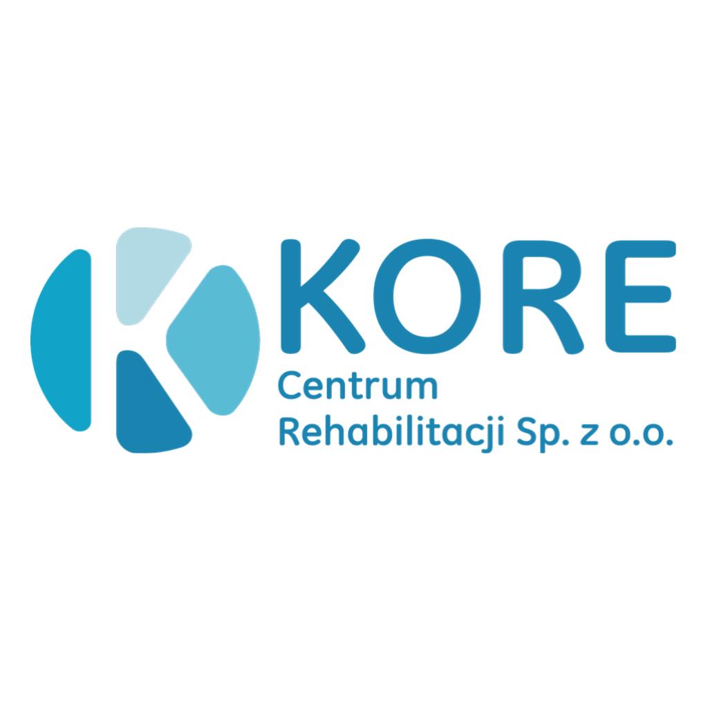 Logo Kore po kliknięciu prowadzi na stronę Kore Centrum rehabilitacji
